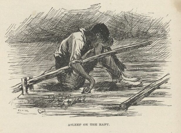 an analysis of huckleberry finn who separates himself from the society Huck finn: individual vs society  huck likes to be with himself and do everything alone  so he said courts mustn't interfere and separate families if they.